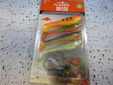 Fladen 100mm Soft Shads & jig head Lure Fishing Set Pike Perch Zander Trout 1003