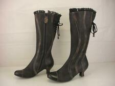 Women's 8.5 9 39 Spring Step Thalia Black Leather Knee High Boots Victorian Vtg