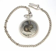 Rabbit Style Pocket Watch Gift Boxed With FREE ENGRAVING Wildlife Gift