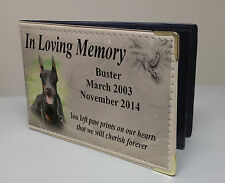Personalised faux leather photo album, memory book, Doberman dog or any breed