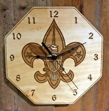 """""""Boy Scout"""" 10"""" Wall Clock - Wood - Laser Crafted Gift"""""""