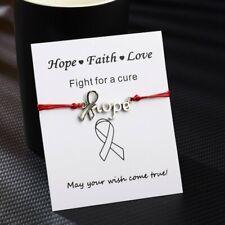 Fashion Hope faith love Rope Bracelet Bangle Friendship Couple Jewellery Card