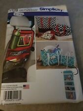 Simplicity Tote Car Organiser Shoulder Bag Fabric Sewing Patterns 1128