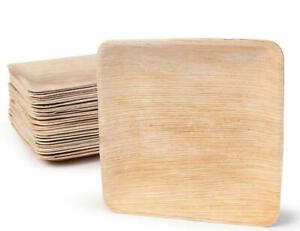 Disposable Plates Strong eco friendly 20cm Large Square Palm leaf 25/50/100 pcs