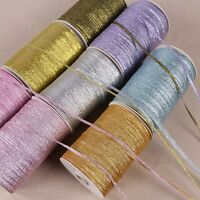 20 Yards (3mm)1/8''  Metallic Glitter ribbons Christmas packaging gift ribbon