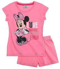 Girls Disney Minnie Mouse Cotton Shorts Pyjamas Short Sleeve PJ Set  Nightwear Pink 3-4 4a9e5cfd2