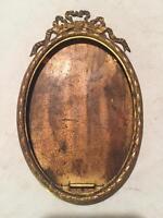 Antique French Frame, Ormolu Louis XVI Style. Napoleon III Vintage