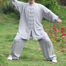 Shaolin Monk Wudang Taoist Kung Fu Robe Tai Chi Uniform Wushu Martial Arts Suits Gray 185