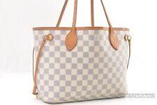 Authentic Louis Vuitton Damier Azur Neverfull PM Tote Bag N51110 LV 39198