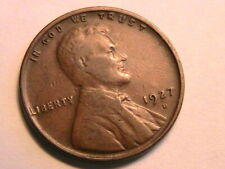 1927-D Ch F. Fine Original No Problem Lincoln Wheat Cent One Penny US Coin