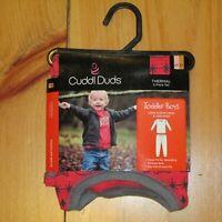 NWT Cuddl Duds Boys Thermal Underwear Red Polar Bears 2T 3T 2 Pc Set Long Pants