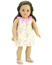 Pink Flower Gem Sundress 18 in Doll Clothes Fits American Girl