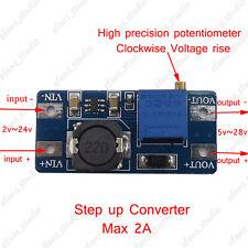 2A DC Boost Step Up Adjustable Converter 2-24V to 5-28V 5V Power Supply Module