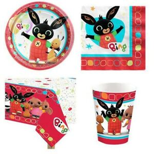 Bing Bunny - Party Supplies -Tableware - Decorations - Banners - Balloons