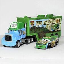 Disney Pixar Car No.54 Mack Racer's Truck & Faux Wheel Drive Toy Car Loose New