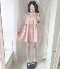 Japanese Sweet Mori Girl Kawaii Cute Bow Embroidery Sleeveless Vest Dress #11