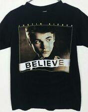Justin Bieber Black Believe Tour 2012-2013 Concert Show Tee Shirt Size Small