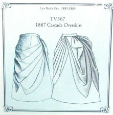Truly Victorian SEWING Pattern for 1880 Cascade Overskirt TV367