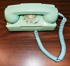 Dollhouse Miniatures Vintage Blue Plastic Rotary Phone #10