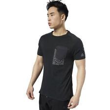 Mens Reebok Sport LES MILLS® Move Tee T-Shirts Black Short Sleeve Small