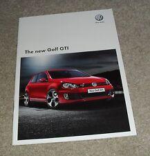 VOLKSWAGEN VW GOLF GTI Mk6 BROCHURE 2009 - 2.0 FSI 210ps Inc DSG
