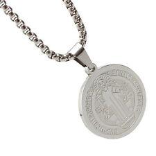 Fashionsl Acero inoxidable Patrón Staint San Benito Medalla Collar Alto Calidad