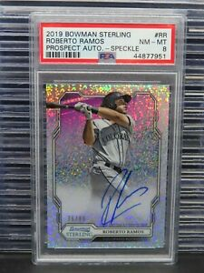 2019 Bowman Sterling Roberto Ramos Auto Speckle Refractor #/99 PSA 8 R214