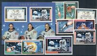 Apollo 11 Space Moon Exploration NASA Neil Armstrong Grenada MNH stamps set