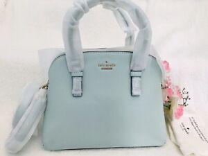NWT Kate Spade Jackson Street Lottie Satchel Bag Misty Mint Cow Leather $348