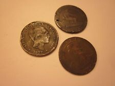 COINS SPAIN 1870's SPANISH EUROPEAN SET OF 3 COLLECTIBLES #405
