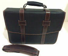 New F1174 KORCHMAR Chester Leather Litigator Checkpoint Computer Briefcase $511