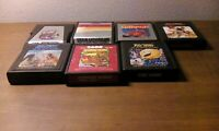 Lot of 8  Atari 2600 Cartidges Games Pac-man, Donkey Kong, Defender ET Preowned