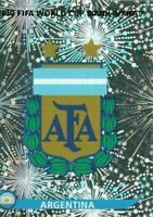 Panini WM 2010 107 Argentinien Argentina Sticker Glitzer Foil Badge World Cup 10