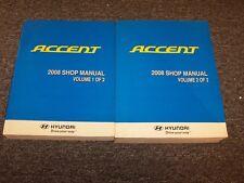 2008 Hyundai Accent Workshop Shop Service Repair Manual Book Set GS GLS SE 1.6L