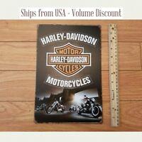 Harley Sign Harley Logo Sign Harley Bar and Shield Metal Harley Garage Sign Tin