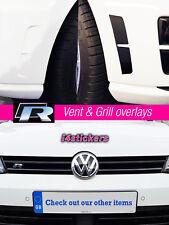 VW Mk7 Golf R Gloss black bumper insert & Grill Overlay