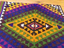 "Flat-Woven Natural Dyes 1'6""x4'5"" Donkey Bag-Tribal Gift Bag Turkey"