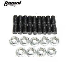 For Mitsubishi DSM 1G 9 x Stud Kit M10x1.25, EVO1~10 Turbos Turbo L:40 mm