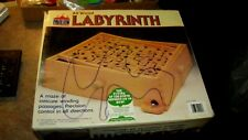 1987 Labyrinth Wood Maze Skill Game in Original Box by Pavilion Complete