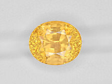 GRS Certified SRI LANKA Yellow Sapphire 12.12 Cts Natural Untreated Oval