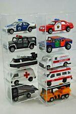 Various AMBULANCE FIRE ENGINE RESCUE POLICE Vehicles & Hovercraft Matchbox Size