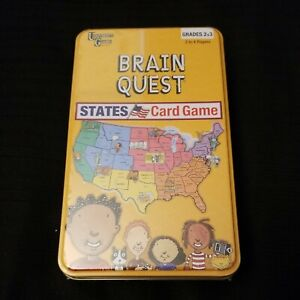 """NEW University Games """"Brain Quest"""" States Trivia Card Game learning educational"""