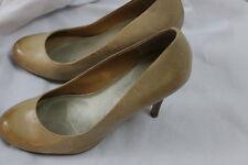 Women's JESSICA SIMPSON Tan Leather Stilleto Sling Slip on Summer Heels 6.5B