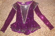 Dance Recital Skirted Leotard Ice Skating Dress Shiny Sequins Size Cl