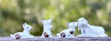 Dog Puppy 4pc Figurine set VIntage China Ceramic Antique Porcelain JAPAN Family