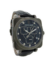 Roberto Cavalli R7271666025 Bohemienne Men's Black Chronograph Alligator Watch