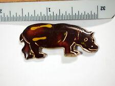 Rhinoceros lapel Pin , old enamel