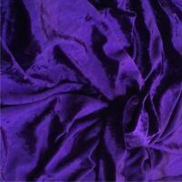 Premium PURPLE Crushed Velour Velvet Fabric Material 150cms Wide