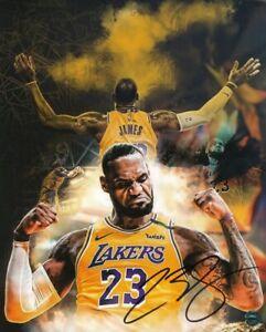 LeBron James Autographed Photo COA NBA Basketball Player Los Angeles Lakers
