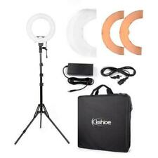 Kshioe 12 Inch Photography Studio Dimmable Ring Light with Stand & Adapter